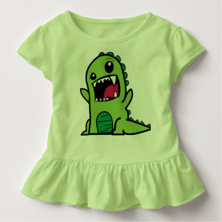 Green Dinosaur toddler dress