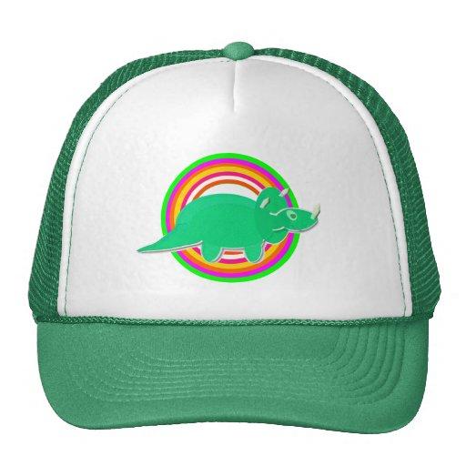 Green Dinosaur Triceratops Mesh Hat