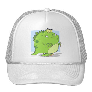 Green Dinosaur Trucker Hat