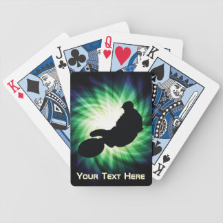 Green Dirt Bike Bicycle Playing Cards