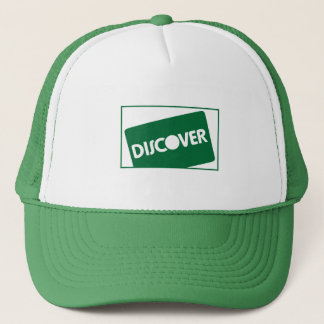 Green Discover Pattern Trucker Hat