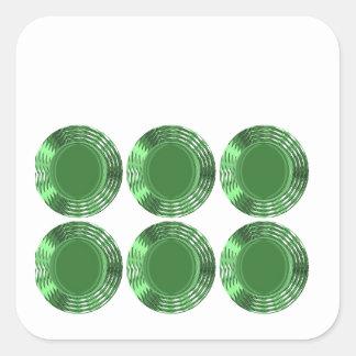 GREEN DISKS - SQUARE STICKER