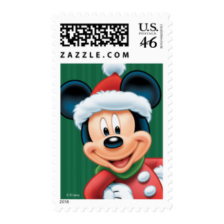 Green Disney Classics Holiday Mickey Stamps