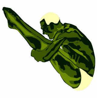 Green Diver Magnet Sculpture