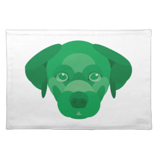 Green Dog Cloth Placemat