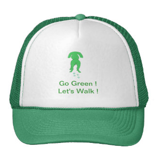 Green Dog Ears Down Trucker Hat