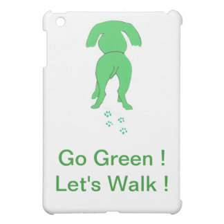 Green Dog Ears Down iPad Case Let's Walk