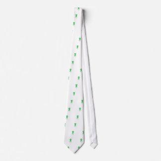 Green Dog Ears Down Neck Tie