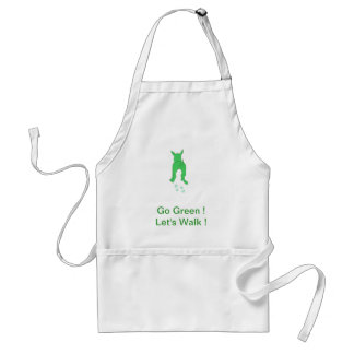 Green Dog Ears Up Let's Walk Adult Apron