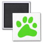 Green Dog Paw Magnet