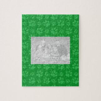 Green dog paw print pattern puzzles