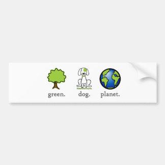 Green. Dog. Planet. Bumper Sticker