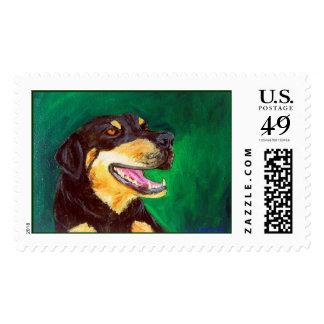 Green Dog Stamp