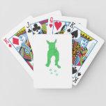 Green Dog Walking Playing Cards