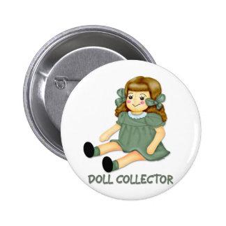 Green Doll 2 Inch Round Button