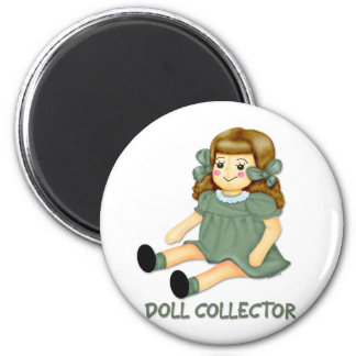 Green Doll 2 Inch Round Magnet