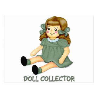 Green Doll Postcard
