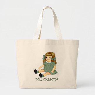 Green Doll Tote Bags