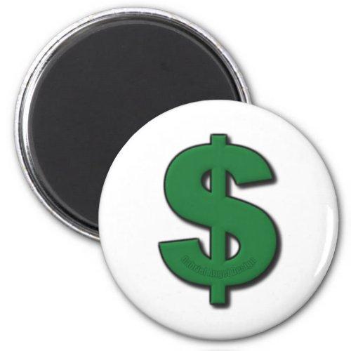 Green Dollar Sign Magnet