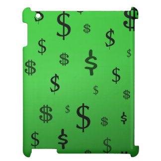 Green Dollar Sign Print Cover For The iPad 2 3 4