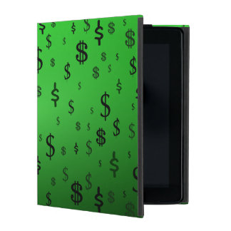 Green Dollar Sign Print iPad Case