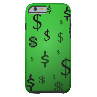 Green Dollar Sign Print Tough iPhone 6 Case