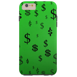 Green Dollar Sign Print Tough iPhone 6 Plus Case