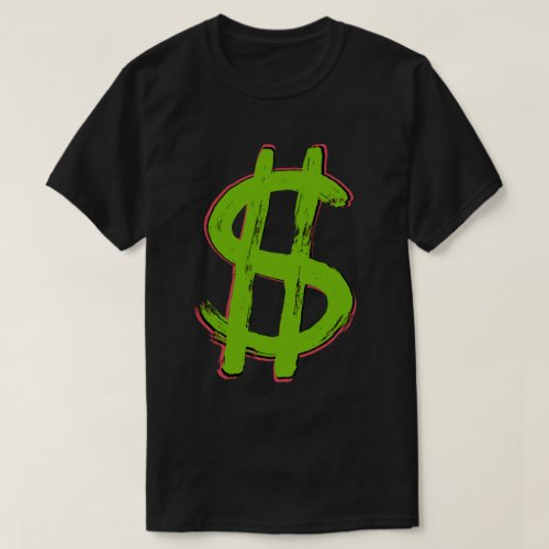 Green Dollar Sign T_Shirt