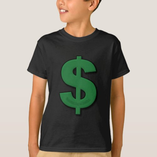 Green Dollar Sign T_Shirt