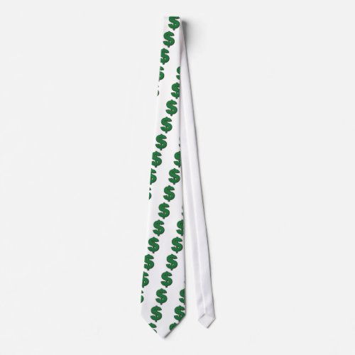 Green Dollar Sign Tie