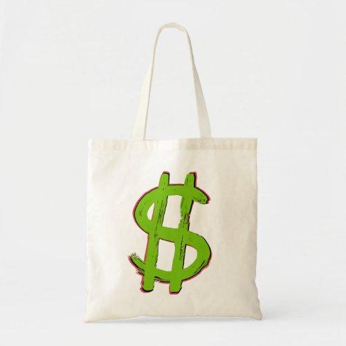 Green Dollar Sign Tote Bag
