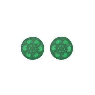 Green Dollops Earrings