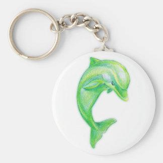 Green Dolphin Keychain