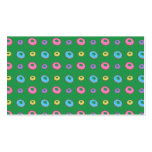 Green donut pattern business card templates