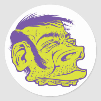 Green Dood Classic Round Sticker