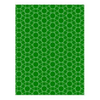 Green Doodle Pattern Postcard