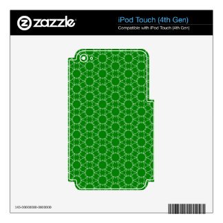 Green Doodle Pattern Skin For iPod Touch 4G