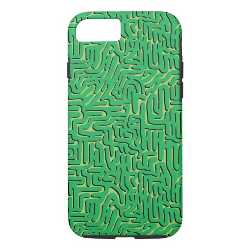 Green Doodle Squiggle iPhone 8/7 Case