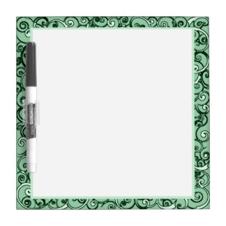 Green Doodles Dry Erase Board