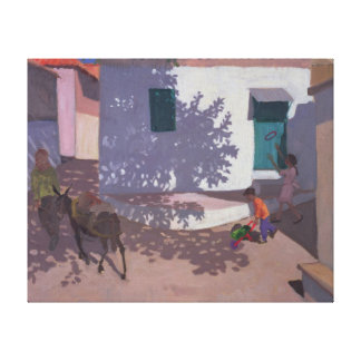 Green Door and Shadows Lesbos 1996 Canvas Print