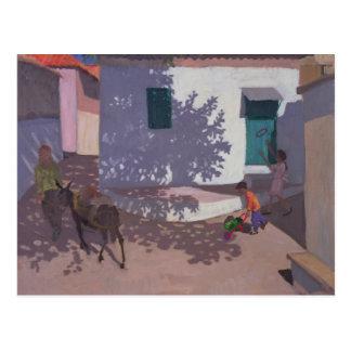 Green Door and Shadows Lesbos 1996 Postcard