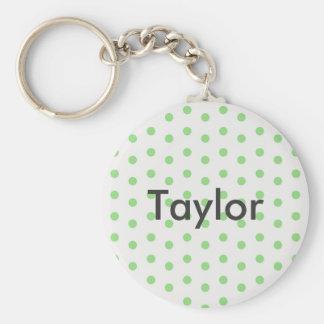 Green dot custom keychain