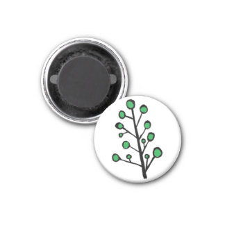Green Dot Tree Magnet