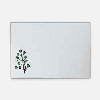 Green Dot Tree Sticky Notes