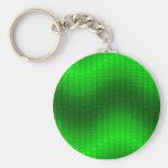 Green dot wave key chain