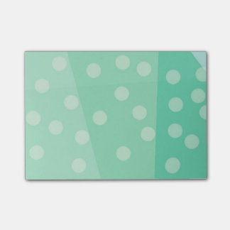Green Dots and Spots Sticky Notes