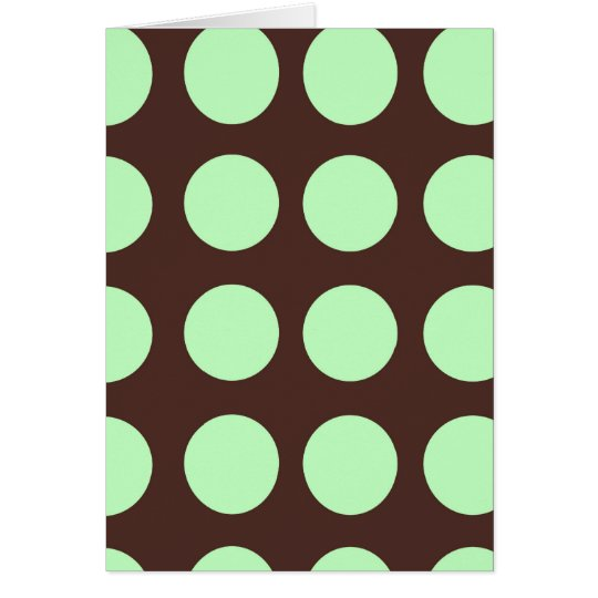 Green Dots Blank Greeting Card