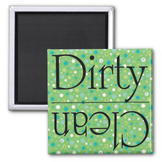 Green dots dirty clean magnet