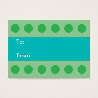 Green Dots Gift Tag