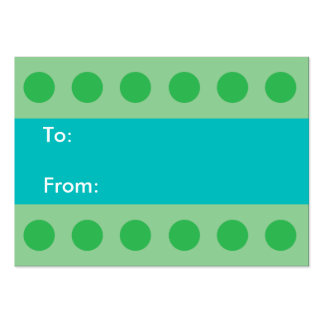 Green Dots Gift Tag Large Business Cards (Pack Of 100)